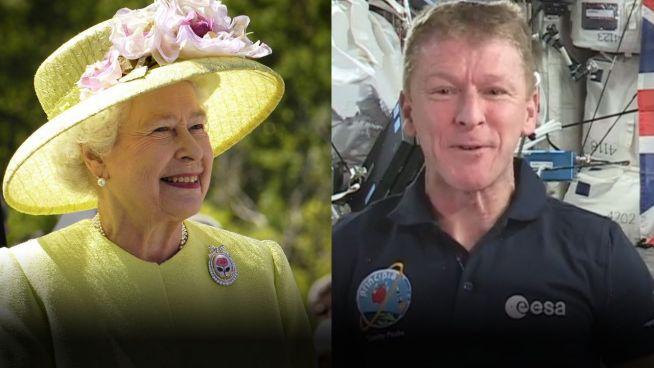 Euphorie im Weltall: Brite grüßt die Majestät