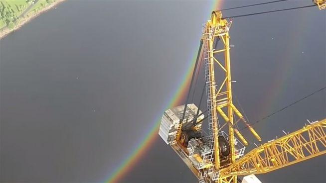 Seltenes Naturphänomen: Dieser Regenbogen ist anders